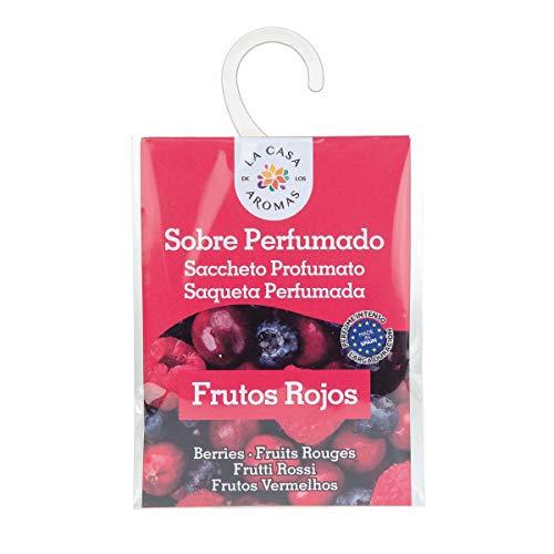 Sobres Perfumados, Bolsitas Aromáticas Aroma Frutos Rojos, Saquitos para el Armario, Cajón, Ropa de Bebé, Zapatero, Maleta (Frutos Rojos, 1 PC)