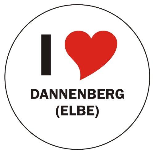 I Love DANNENBERG (ELBE) Handyaufkleber Handyskin 50x50 mm rund