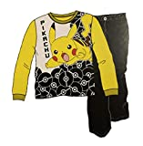 Pokemon Big Boys Pikachu 2 Piece Pajama Sleepwear Set (8) Yellow