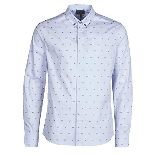 Emporio Armani 6h1c80 Hemden Herren Blau - L - Langärmelige Hemden