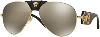 Versace VE2150Q Pilot Sunglasses For Men For Women+FREE Complimentary Eyewear Care Kit