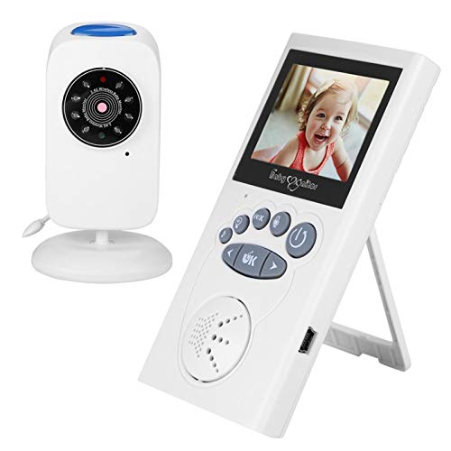 Monitor de bebé Inteligente, luz LED y diseño Musical Monitor de bebé con Video Monitor de bebé inalámbrico para usuarios en Varios países para bebés(Estándar Europeo (100-240v))