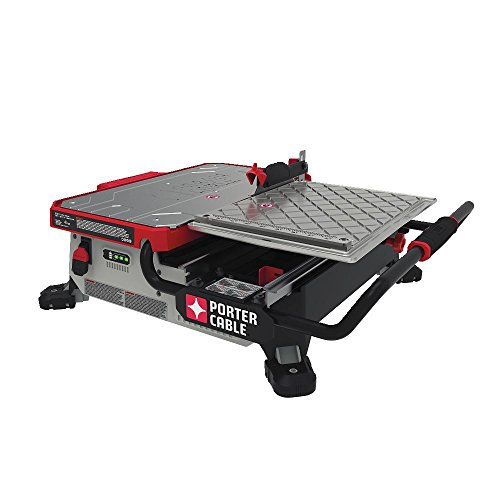 PORTER-CABLE 20V MAX Wet Tile Saw, Sliding, Table Top, 7-Inch (PCC780LA)
