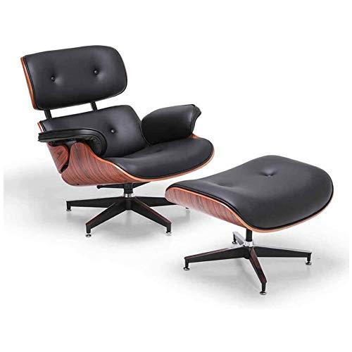 KILLM Mid Century Lounge Chair Mit Osmanischem, Erweitertem, Klassischem, Modernem Stuhl, Palisanderholz Aus Naturleder, Hochleistungs-BasisstüTze Wohnzimmer, Arbeitszimmer, Lounge, BüRo
