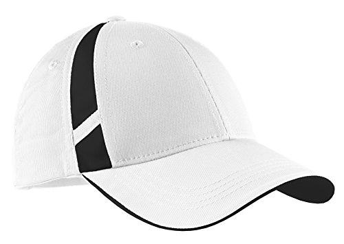 Sport-Tek® Dry Zone® Mesh Inset Cap. STC12 White/Black OSFA