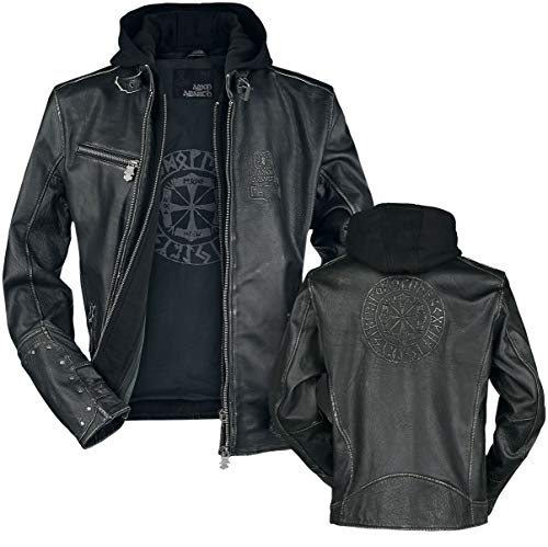 Amon Amarth Thorhammer Männer Lederjacke schwarz S, 100% Leder, Band-Merch, Bands