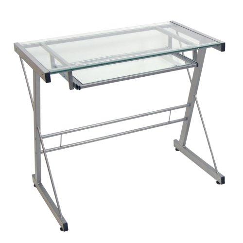 Walker Edison Metal and Glass Laptop Desk