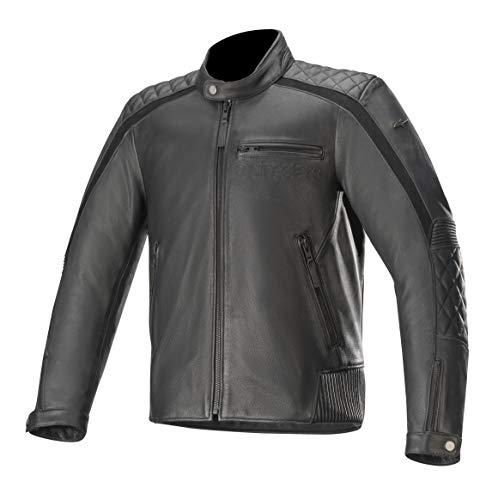 Alpinestars Giacca da moto Hoxton V2 Leather Jacket Black, BLACK, 56