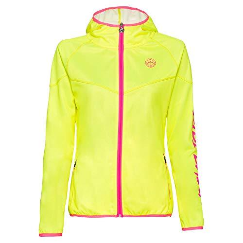 BIDI BADU Inga Tech Jacket - Neonyellow/pink, Größe:M