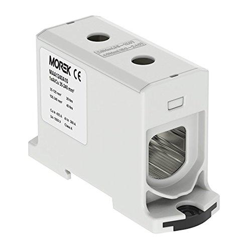 Verteilerblock f. Al/Cu geeignet 35-240mm2 grau 1pol. 1000V AC/DC Klemme isoliert OTL 240 MAA1240A10 Morek 3972