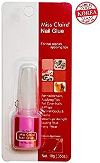 Miss Claire Miss Claire Nails Glue, Clear, 10 Grams, 10 g