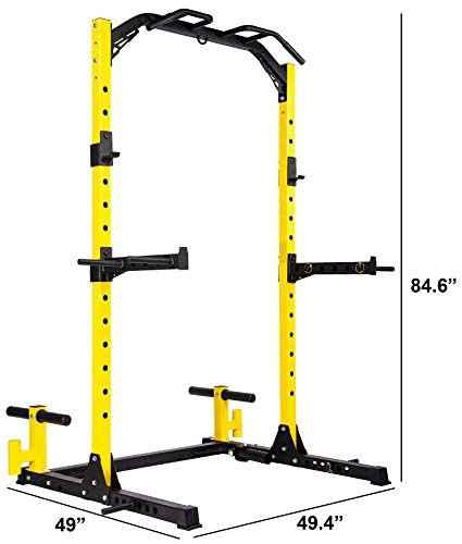 Product Image 7: HulkFit Multi-Function Adjustable Power Rack Exercise Squat Stand with J-Hooks and Other Accessories,Multiple Versions, Pro, 1000LB Capacity