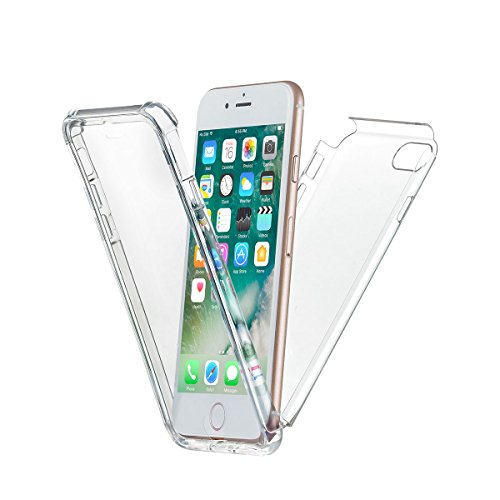 New Trent iPhone 7 Case iPhone 8 Case eSobala 7 Full-Body Protection Transparent Case with Built-in Screen Protector for Apple iPhone 7 (2016) and iPhone 8 (2017) 4.7-inch