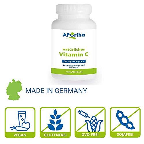 NordHit Vitamin C aus natürlichen Quellen – 240 Kapseln - 3