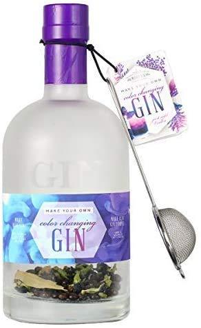 Modern Gourmet Foods - DIY Gin Mit Farbwechsel Zum Selbermachen - Inkl. Kräutermischung, Sieb & Glas-Dekanter - 38 g
