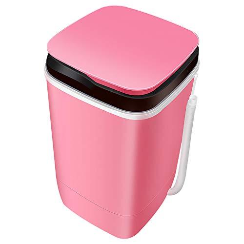 FDY Mini Lavadora Pequeña Uso Doméstico Lavandería Lavado De Calzado Y Desagüe Máquina Tres En Uno Uso En Apartamentos Dormitorio,Apto para Solteros,Rosado