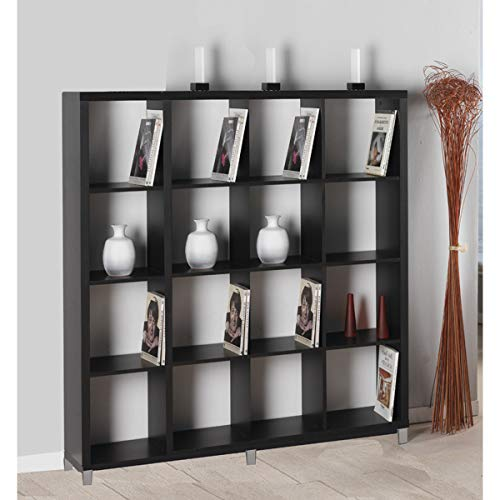 "Kit Closet Estantería ""Kubox"" 16 huecos negro"