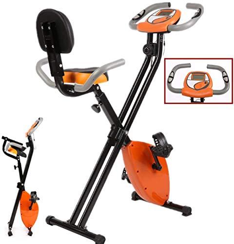 Home Gym Fitness Fietsen Rechtop Folding Magnetic Hometrainer met rugleuning Spinning Thuis zachte kussen Bicycle Trainer Cardio Fiets Indoor Sport Training