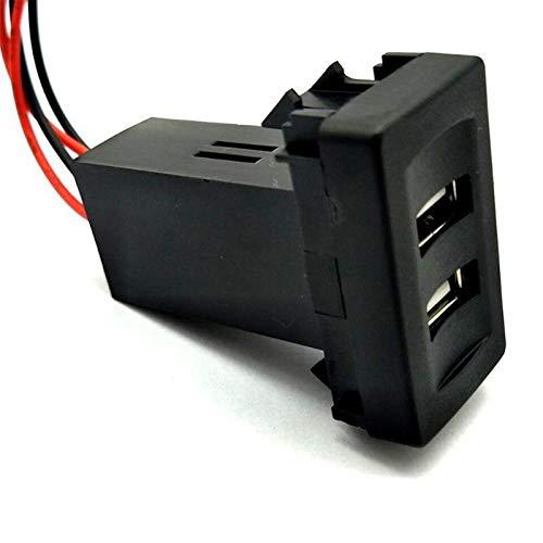 Cargador de coche Cargador USB Cargador USB Dual para T4 Models 2.1A Cargador de coche Cargador especial Coche interruptor del coche