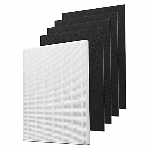 Herosky D480 Replacement Filter D4 Compatible with Winix D480, Post Filter and 4 Activated Carbon Filters, Replace Part Number 1712-0100-00, Filter D4