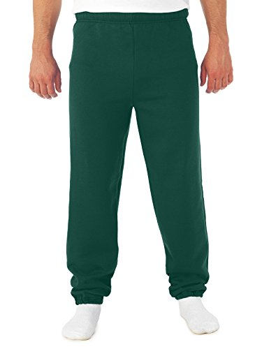 Jerzees 8 oz Sweatpant (973M) No Pockets Available in 10 Colors - Forest Green 973M L