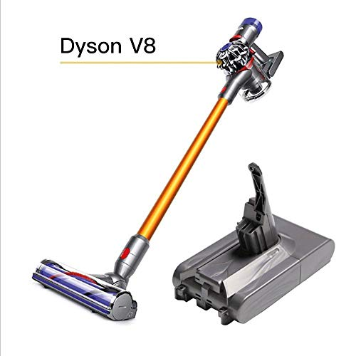 Earthily Batería de repuesto para Dyson V8 Animal Dyson V8 Fluffy Dyson V8 Absolute Handheld Aspiradora Repuestos, 21.6V 4000mAh in style