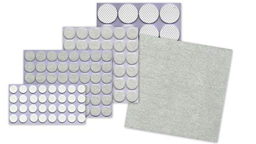 REINEX Pack Proline XXL Möbelgleiter Möbelschoner Filzgleiter Moosgummi Stuhlbeinschoner Sortiment selbstklebend widerstandsfähig geräuschdämpfend 125 Stück in 5 Größen