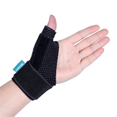 2U2O Compression Reversible Thumb & Wrist Stabilizer Splint(Improved Version) for BlackBerry Thumb, Trigger Finger, Pain Relief, Arthritis, Tendonitis, Sprained, Carpal Tunnel, Stable,