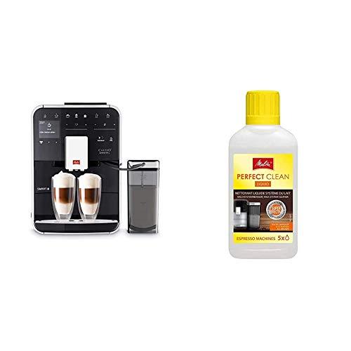 Melitta Caffeo Barista TS Smart F850-102, Kaffeevollautomat mit Milchbehälter, Schwarz & 202034 Perfect Clean Milchsystem Reiniger | Entfernt einfach und gründlich Milchablagelagerungen | 250 ml