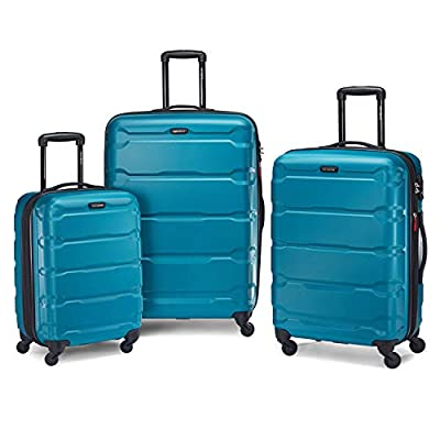 Samsonite Omni PC Hardside Expandable Luggage with Spinner Wheels, Caribbean Blue