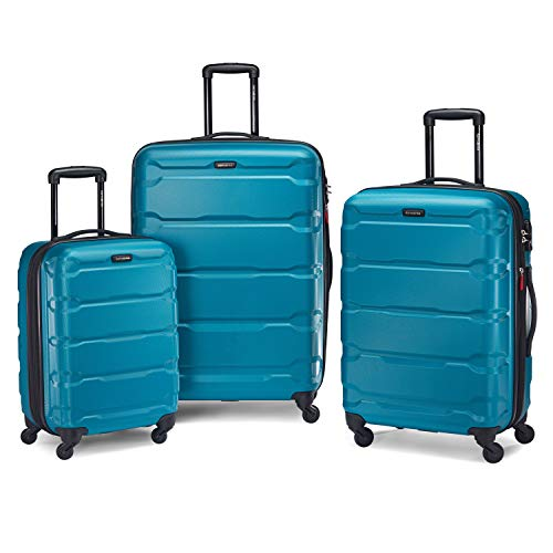 This bright blue hard shell luggage set is going to last you a long time. Very well made and light weight too.