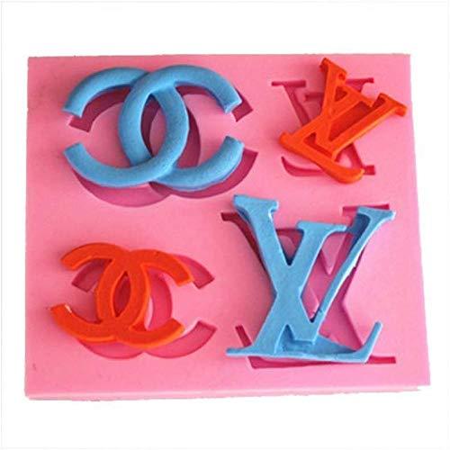 Bakvorm Muffin Cupcake blikken vormen chocolade zoete vormen YL Logo Y1052 Siliconen Suikerhars ambachtelijke DIY vormen DIY kauwgom plakken bloemen taart decoreren Fondant schimmel