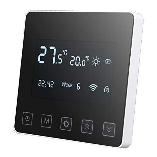 Wifi Termostato con aplicación weback, Inteligente programable para calefacción, Pantalla LCD para facilidad de control, Compatible con Avec Amazon Echo, Google Home, APP.