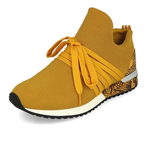La Strada 1804297 Sneaker Knitted Ocher 36