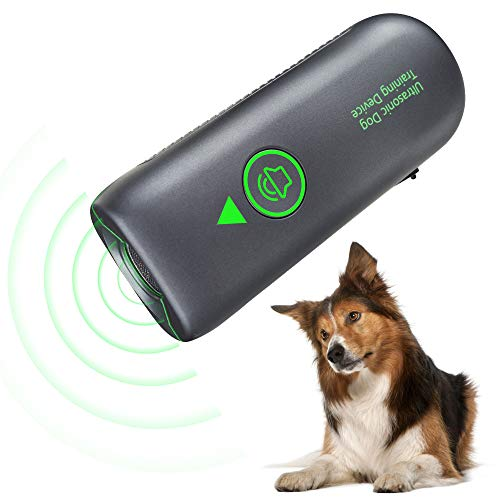 Anti-Bell-Gerät, Hund Bell-Stopper Gerät mit 4 einstellbaren Stufen, 2 Ultraschall-Lautsprecher stoppt Hunde-Bellen, Ultraschall-Abschreckung Bell-Abschreckung 15,2 m Reichweite sicher für alle Hunde