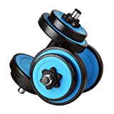 Dumbbell for resistance training Rubber-covered Protective Dumbbells 10kg a Pair of Detachable Dumbbells Men and Women Sports Fitness Equipment Suitable for Home Private Gym (blue + Black) Comfortable