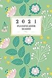 2021 Planificador Diario: Arte Floral Diario Planeación Semanal Año 2021 de Domingo a Sábado Planeación Oportuna Organízate Agenda Anual Año Nuevo ... 52 Semanas Verde Color Académico Profesional