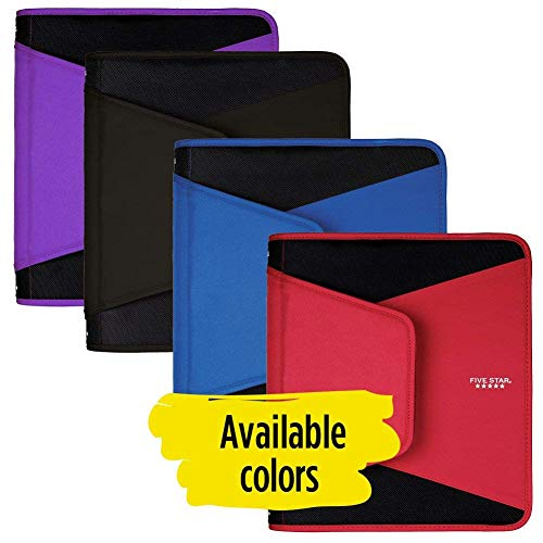 Five Star 1-1/2 Inch Zipper Binder, 3 Ring Binder, 3-Pocket Expanding File, Durable, Color Selected For You (28012) Photo #5
