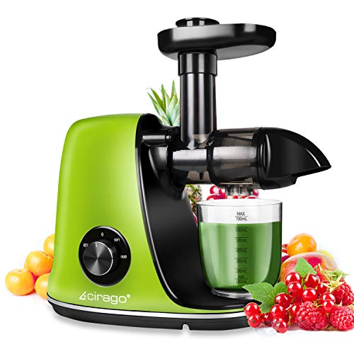 CIRAGO Juicer Machines, Slow Masticating Juicer Extractor Two Speed Adjustment, Easy to Clean, Quiet...