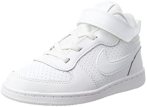 Nike Unisex Baby Court Borough Mid (TD) Hausschuhe, Weiß (White/White 100), 18.5 EU