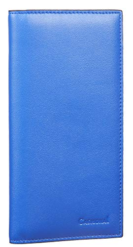 WELL-BUILT STITCHING & LINING: We selected refined VEGAN LEATHER for this Casmonal checkbook cover. Experienced workmen devote their craftmanship to each product. FUNCTIONAL SLOTS: This humanized checkbook wallet has enough compartments for checks, r...