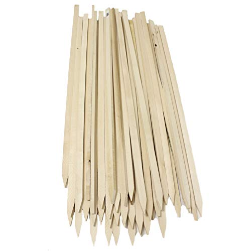 Walnut Hollow Wood Gardens, Signs and Projects, 36 Inches Long (48 Pack) Basswood Stake