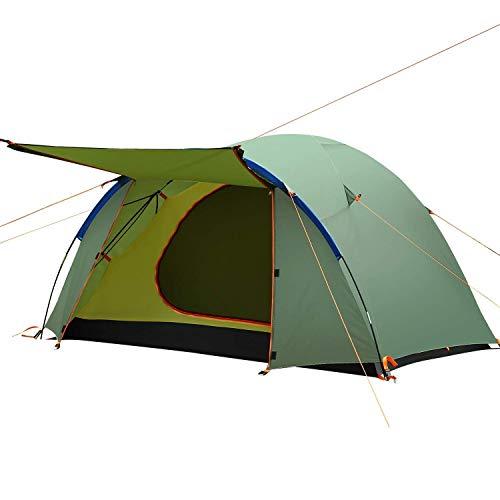 Zelt Ultraleichte Camping Zelt 3 4 Personen, wasserdicht Kuppelzelte, Zelt für Draussen Trekking Sport Picknick Strand Wandern Reisen