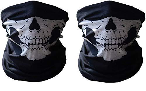 Tweal Schlauch Maske,2 Stück Sturmmaske Nahtlos Schädel Gesicht Schlauch Maske Motorrad Gesichtsmaske,Staubschutz für Outdoor