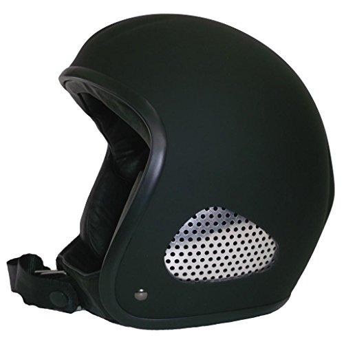 Skorpion TITAN-Kulthelm schwarz-matt Biker, Chopper, Ski, Harley, Jethelm, mit Lederinnenfutter, Gr.: XL