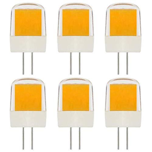 Kurz G4 2W LED Lampen Warmweiß 230V(Nicht Niederspannung 12V)Ersetzt 20W 15W 10W Halogen 3000K Dimmbar, 6 Stück [MEHRWEG]