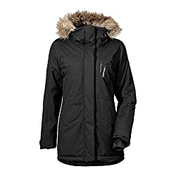 Didriksons Black Faux Hooded Winter Jacket