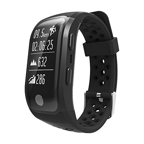 Lixada Orologio Sportivo Sport Bracciale Smart BT GPS Pedometro Fitness Tracker con Cardiofrequenzimetro