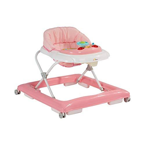 Solini Lernlaufhilfe/Lauflernwagen für Babys/höhenverstellbarer Laufwagen mit eingehängtem Sitz