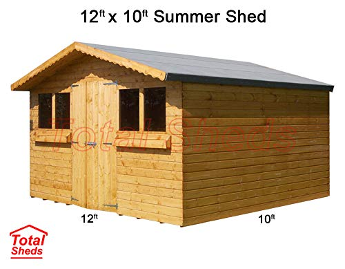 Total Sheds 12ft (3.6m) x 10ft (3.0m) Garden Shed Summer Shed Timber Shed